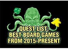 بهترین بردگیمهای ۲۰۱۵ تا ۲۰۲۰ به انتخاب Board Game Quest